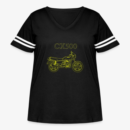 CX500 line drawing - Women's Curvy Vintage Sport T-Shirt