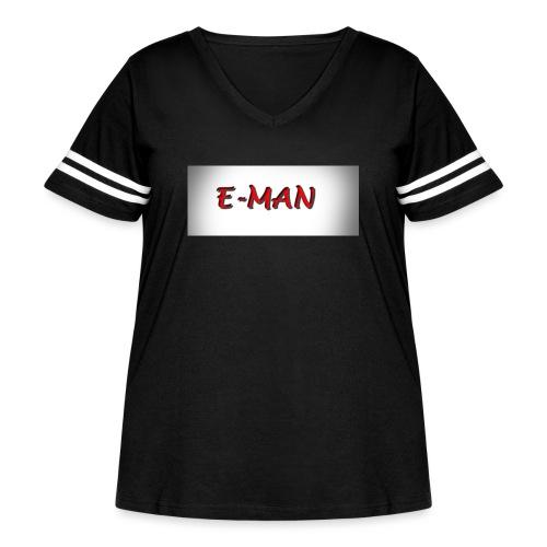 E-MAN - Women's Curvy Vintage Sport T-Shirt
