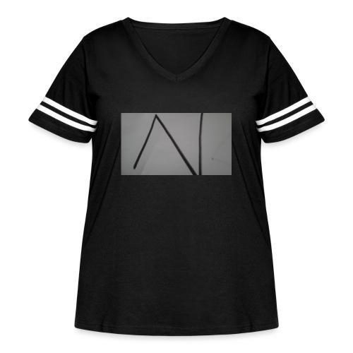 The n team - Women's Curvy Vintage Sport T-Shirt