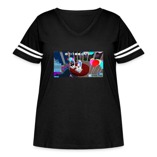 prom queen - Women's Curvy Vintage Sport T-Shirt