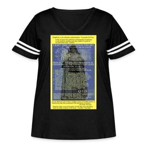 Light Time Dimension Theory: Dr. Elliot McGucken - Women's Curvy Vintage Sport T-Shirt