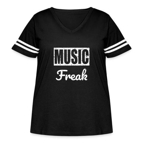 Music Freak T-Shirt - for all music lover - Women's Curvy Vintage Sport T-Shirt