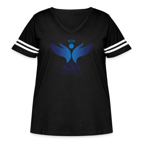 3459 Angelman Logo AUSTRALIA FA CMYK - Women's Curvy Vintage Sport T-Shirt