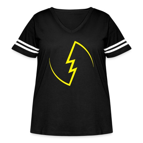 Electric Spark - Women's Curvy Vintage Sport T-Shirt