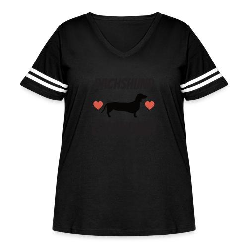 Dachshund Grandma - Women's Curvy Vintage Sport T-Shirt