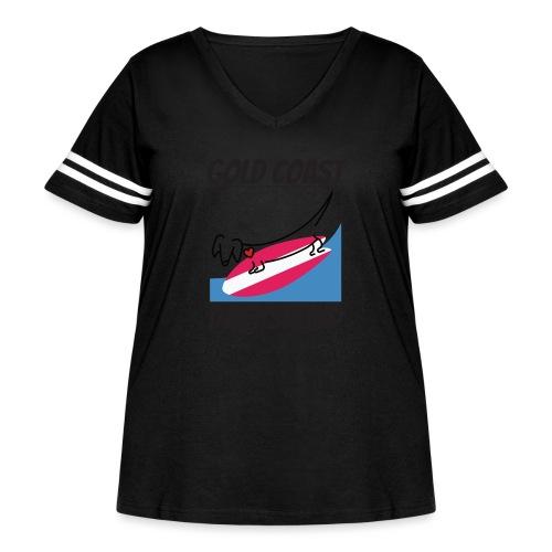 Gold Coast Dachshund - Women's Curvy Vintage Sport T-Shirt