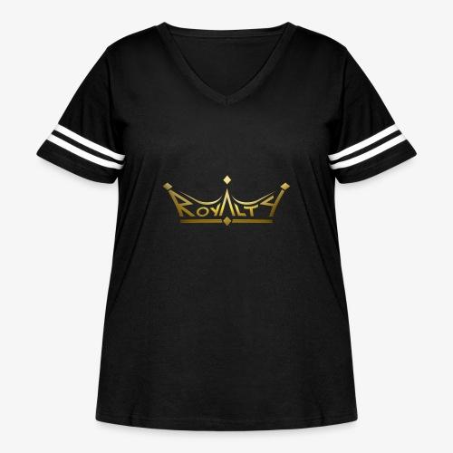royalty premium - Women's Curvy Vintage Sport T-Shirt