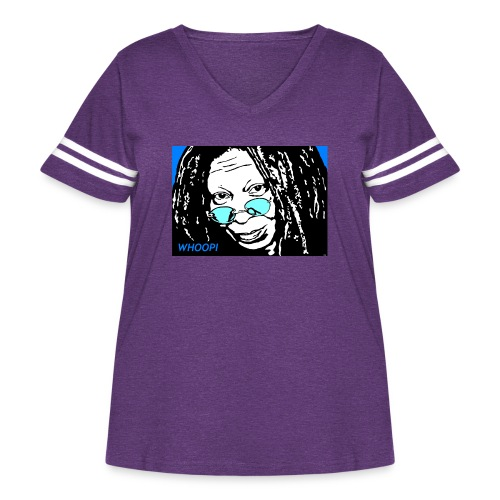 WHOOPI - Women's Curvy Vintage Sport T-Shirt