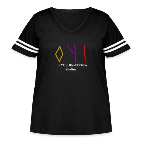 Kyoshin-Tekina Studios logo (white text) - Women's Curvy Vintage Sport T-Shirt