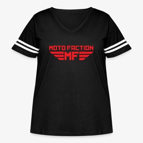 MotoFaction Logo - Women's Curvy Vintage Sport T-Shirt