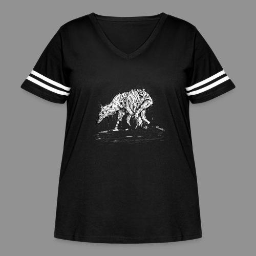 Wolfman Originals Black & White 13 - Women's Curvy Vintage Sport T-Shirt