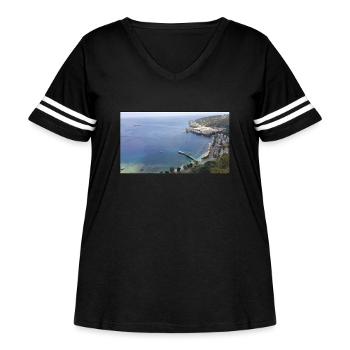 Christmas Island - Women's Curvy Vintage Sports T-Shirt