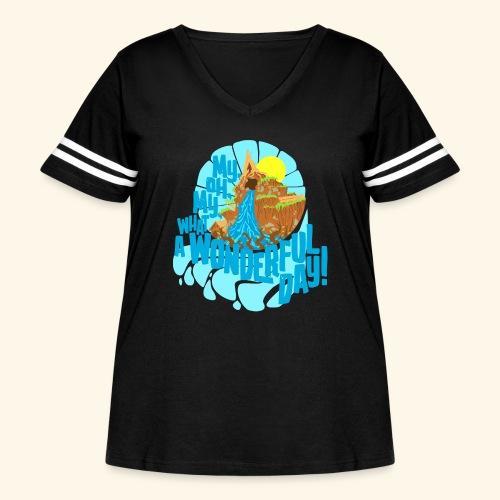splashMT2 - Women's Curvy Vintage Sport T-Shirt