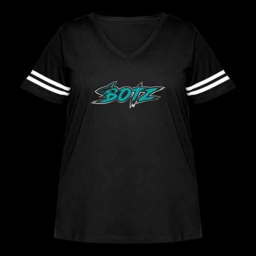 BOTZ Teal Logo - Women's Curvy Vintage Sport T-Shirt