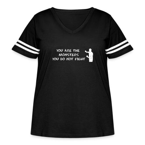Fight Monsters - Women's Curvy Vintage Sport T-Shirt