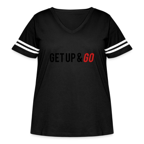 Get Up and Go - Women's Curvy Vintage Sport T-Shirt