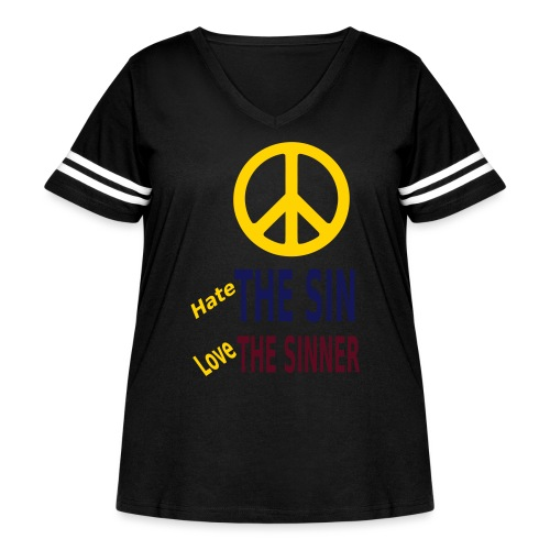 Hate the Sin Love the Sinner - Women's Curvy Vintage Sport T-Shirt