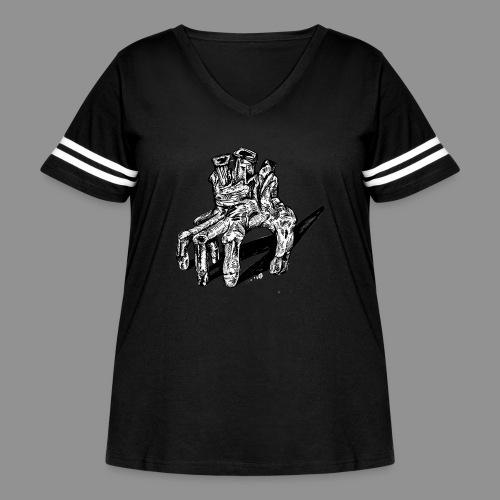 Wolfman Originals Black & White 19 - Women's Curvy Vintage Sport T-Shirt
