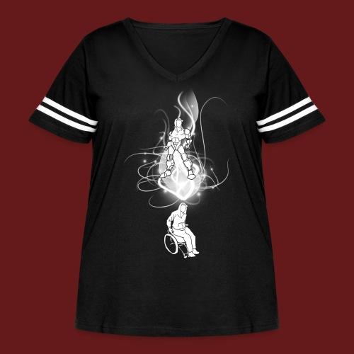 TransforMax (white) - Women's Curvy Vintage Sport T-Shirt