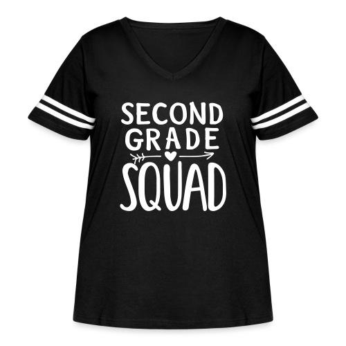 Second Grade Squad Teacher Team T-Shirts - Women's Curvy Vintage Sport T-Shirt