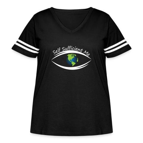 Self Sufficient Me Logo Large - Women's Curvy Vintage Sport T-Shirt