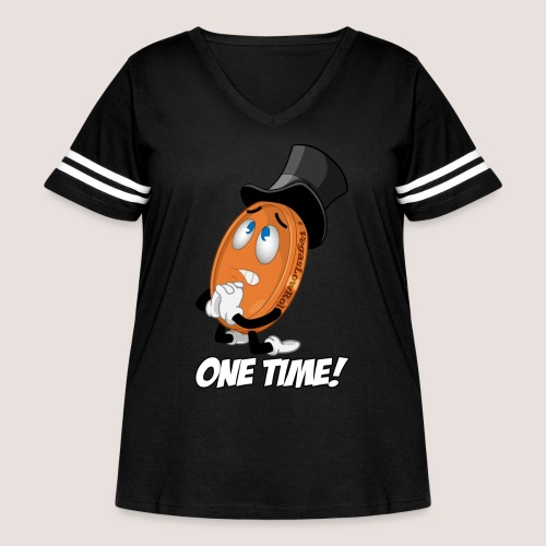 THE ONE TIME PENNY - Women's Curvy Vintage Sport T-Shirt