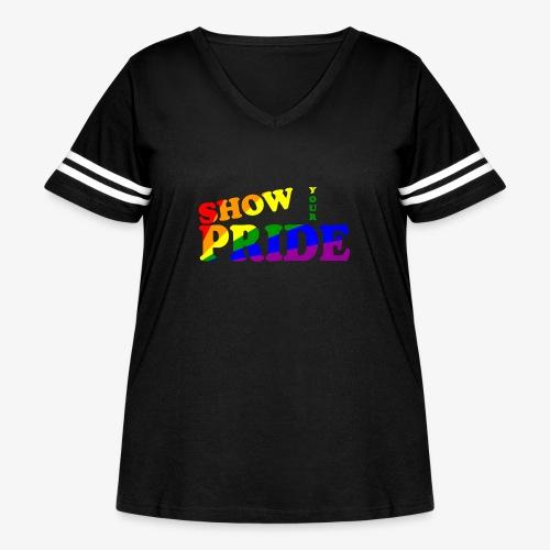 SHOW YOUR PRIDE A - Women's Curvy Vintage Sport T-Shirt