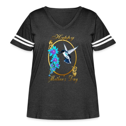 Mother's Day with humming birds - Women's Curvy Vintage Sport T-Shirt