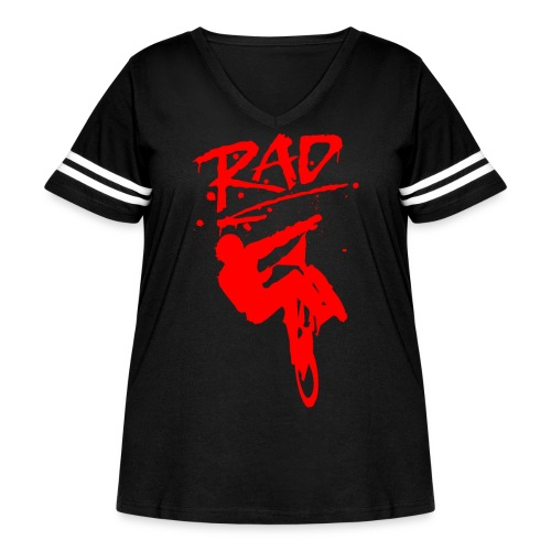 RAD BMX Bike Grafitti 80s Movie Radical T shirts - Women's Curvy Vintage Sport T-Shirt