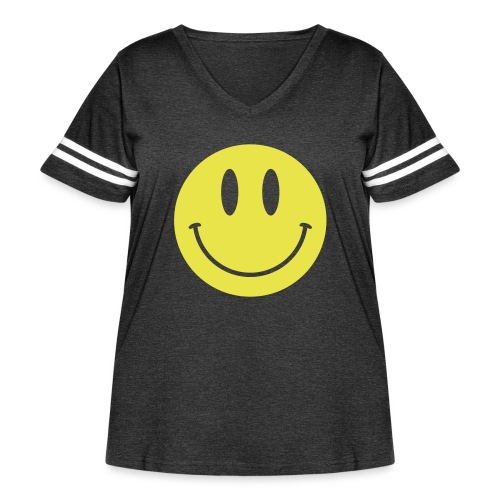 Smiley - Women's Curvy Vintage Sport T-Shirt