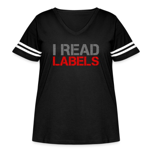 I READ LABELS - Women's Curvy Vintage Sport T-Shirt
