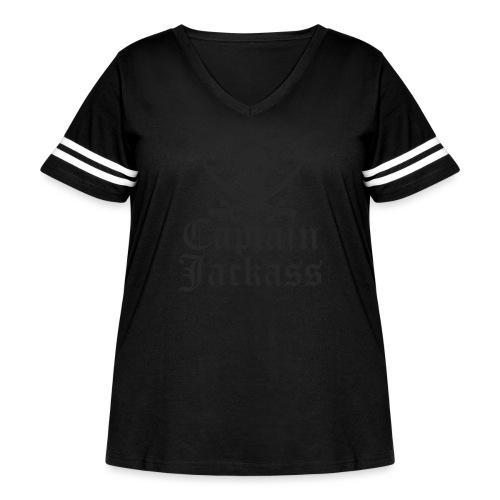 captainjackass - Women's Curvy Vintage Sport T-Shirt