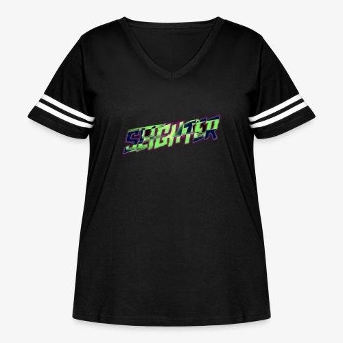Retro Logo Glitch - Women's Curvy Vintage Sport T-Shirt