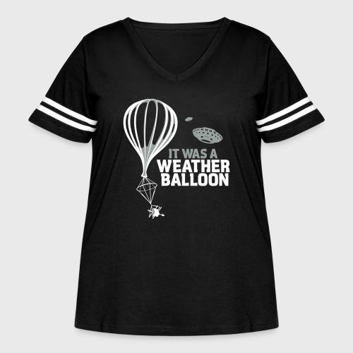Weather Balloon UFO - Women's Curvy Vintage Sport T-Shirt
