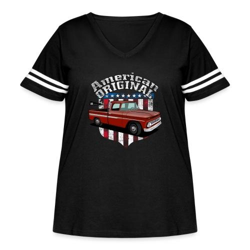 American Original RED - Women's Curvy Vintage Sport T-Shirt
