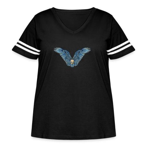 Wings Skull - Women's Curvy Vintage Sport T-Shirt