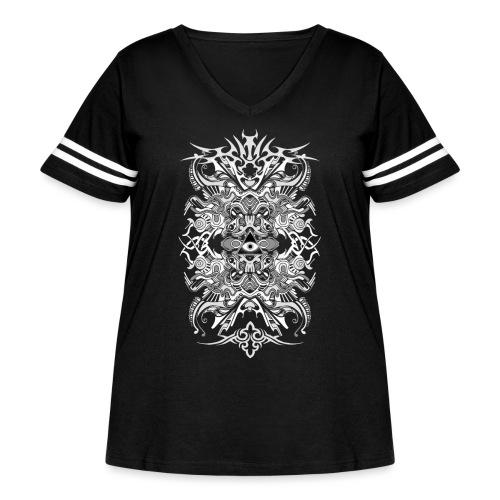 E.V. II - White - Women's Curvy Vintage Sport T-Shirt