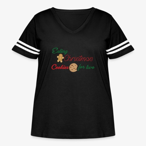 Christmas Cookies - Women's Curvy Vintage Sport T-Shirt