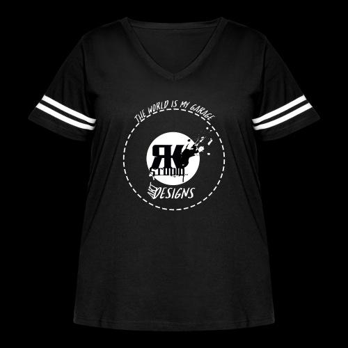 The World is My Garage - Women's Curvy Vintage Sport T-Shirt