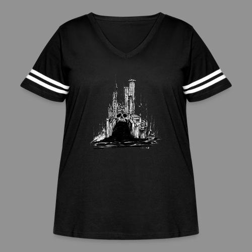 Wolfman Originals Black & White 20 - Women's Curvy Vintage Sport T-Shirt