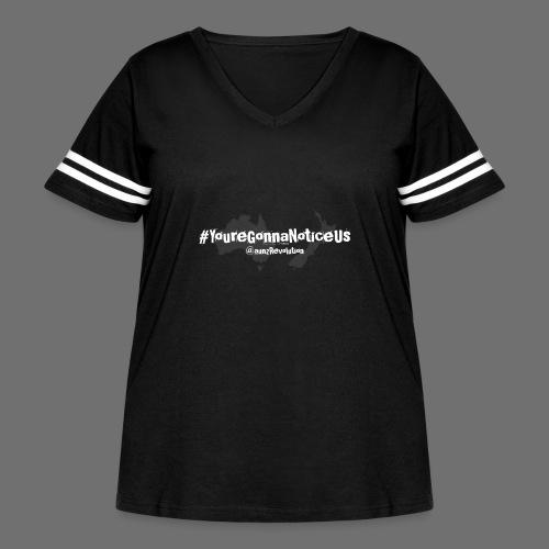 #youreGonnaNoticeUs No Mischief - Women's Curvy Vintage Sport T-Shirt