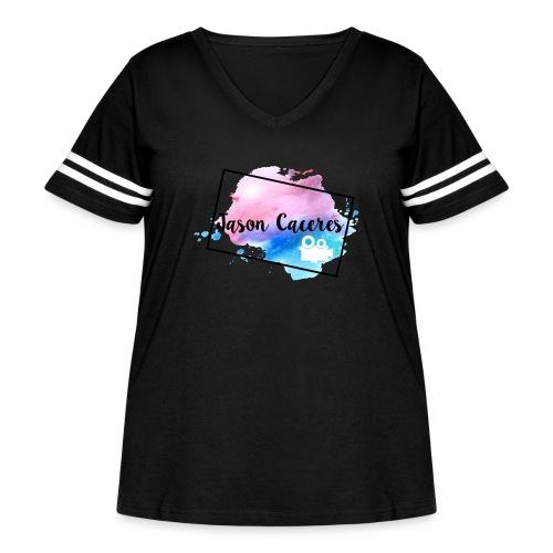 Jason Caceres Opening Intro Logo - Women's Curvy Vintage Sport T-Shirt
