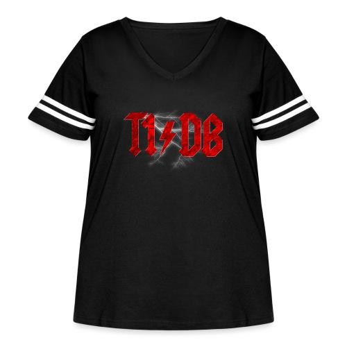 T1/DB AC/DC Style - Women's Curvy Vintage Sport T-Shirt