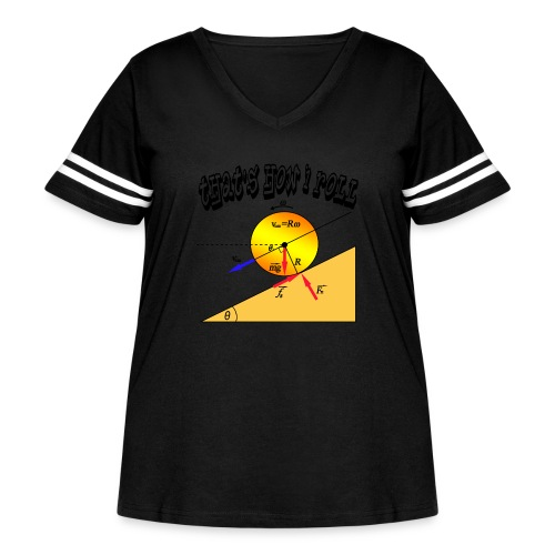 That's How I Roll - Women's Curvy Vintage Sports T-Shirt