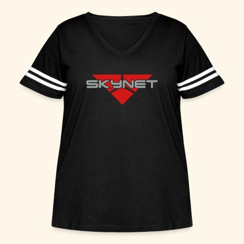 Skynet - Women's Curvy Vintage Sport T-Shirt