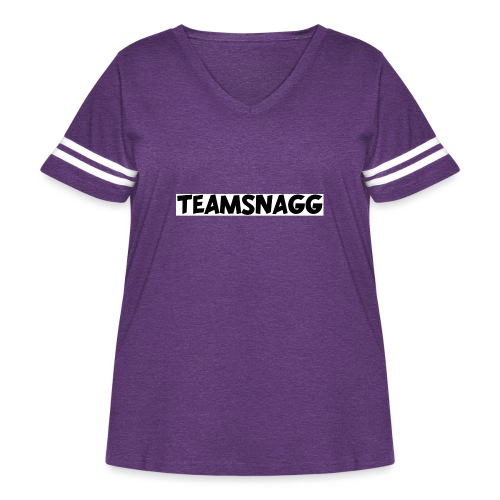 TeamSnagg Logo - Women's Curvy Vintage Sport T-Shirt