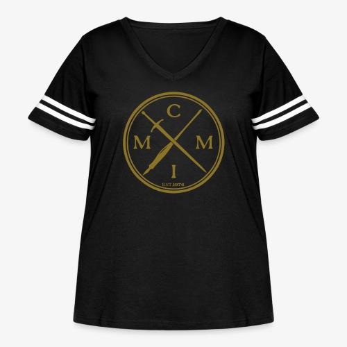 pen x sword - Women's Curvy Vintage Sport T-Shirt