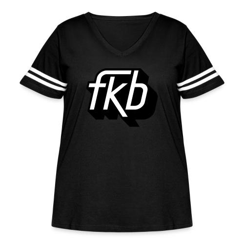 FKB Women's Retro - Women's Curvy Vintage Sport T-Shirt