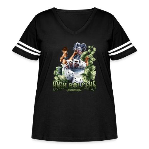 High Roller by RollinLow - Women's Curvy Vintage Sport T-Shirt
