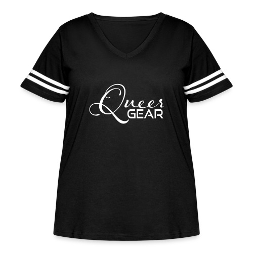 Queer Gear T-Shirt 03 - Women's Curvy Vintage Sport T-Shirt